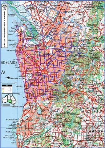 map of adelaide 10 Map of Adelaide