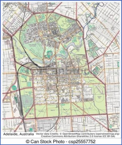 map of adelaide 13 Map of Adelaide