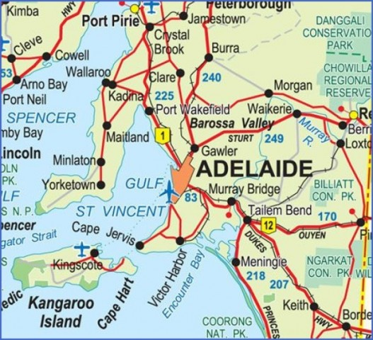 map of adelaide 6 Map of Adelaide