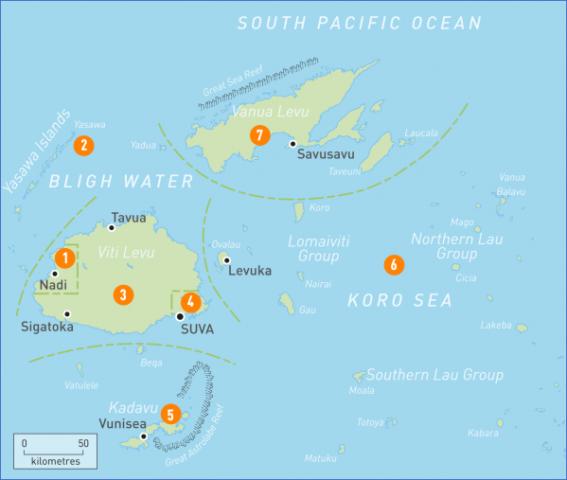 area map of fiji Fiji Map