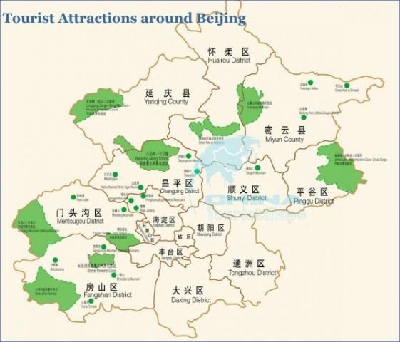 attractions around beijing map Beijing Map