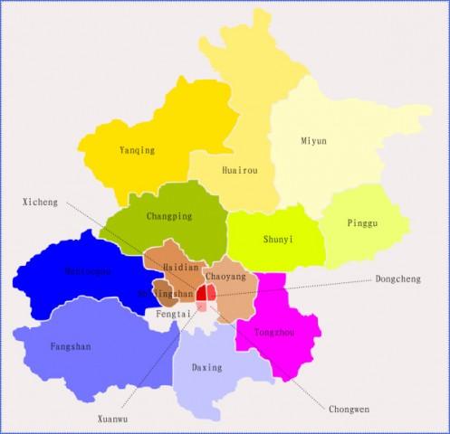 beijing district map Beijing Map