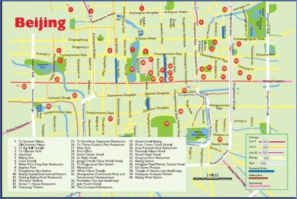 beijing tourist map Beijing Map