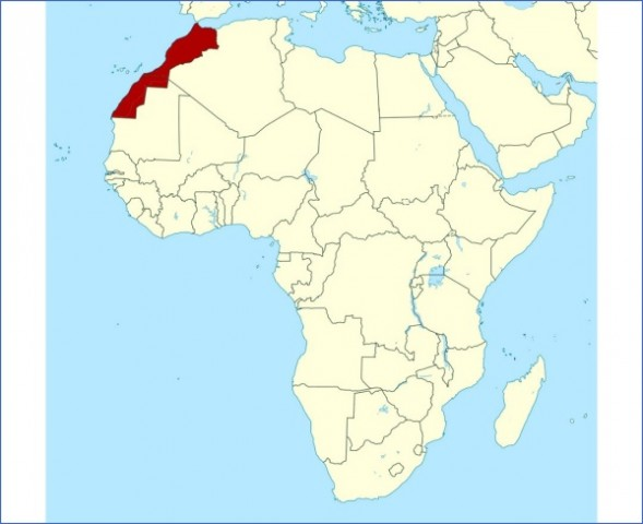 detailed location map of morocco in africa preview Map of Morocco