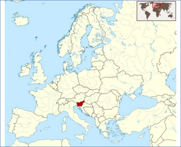 detailed location map of slovenia in europe preview Map of Slovenia