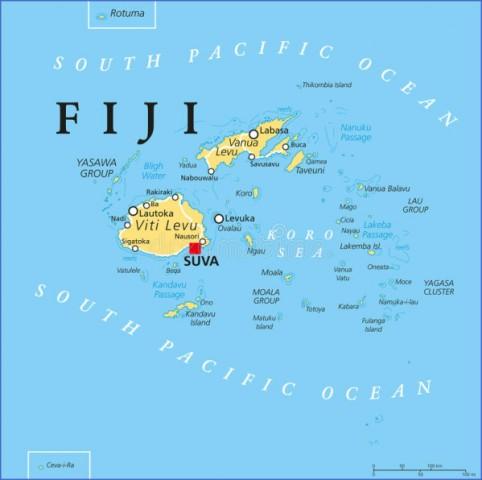 fiji political map capital suva islands important cities reefs english labeling scaling illustration 73044307 Fiji Map