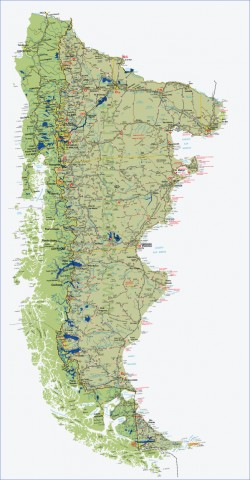 hi res patagonia map Map of Patagonia