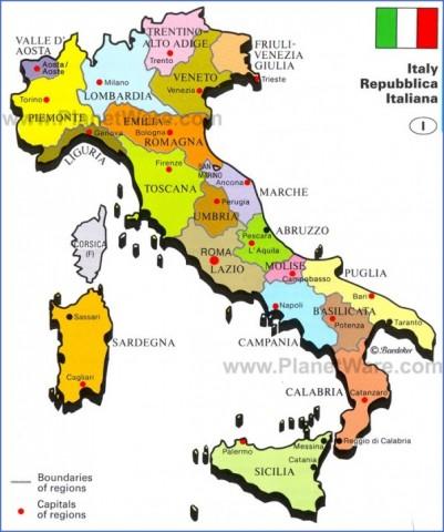 italy republic map Map of Italy