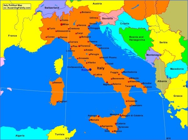 italypolitical Map of Italy