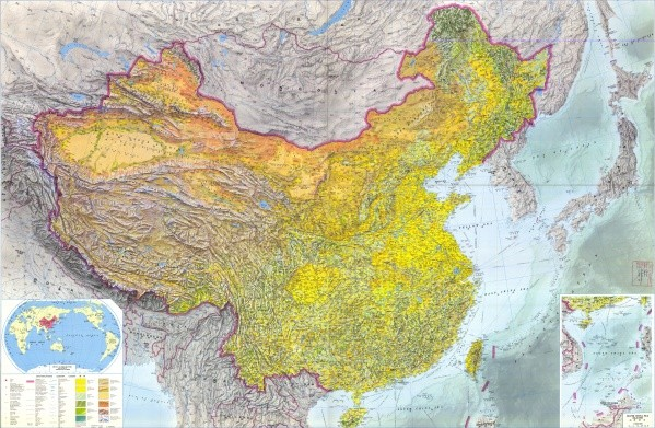 large detailed topographic map of china Map of CHINA