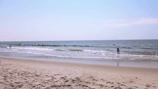 leave nothing but footprints 02 Rockaway Beach New York City