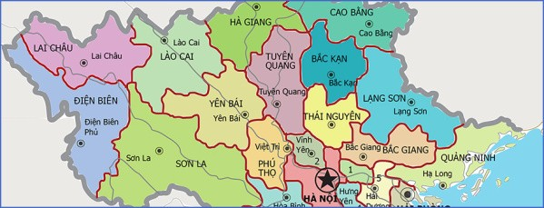 map district vietnam Map of Vietnam