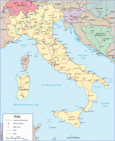map italy 1 Map of Italy