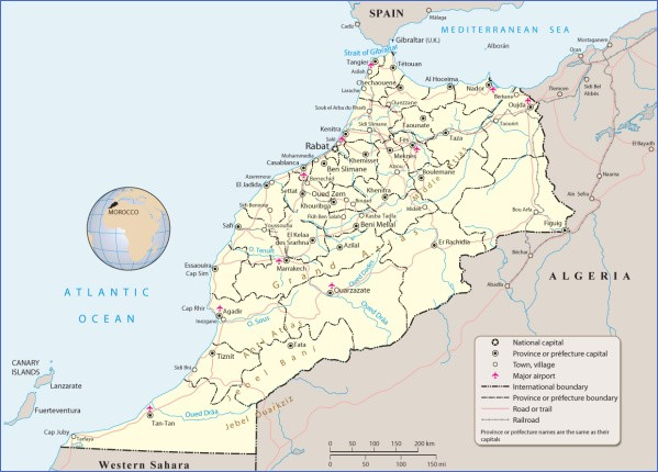 map morocco Map of Morocco