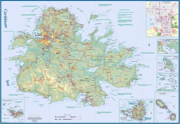 map of antigua 11 Map of Antigua