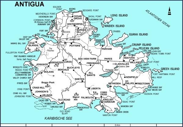 map of antigua 15 Map of Antigua