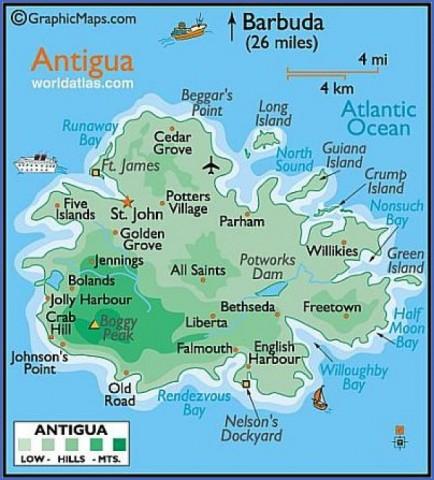map of antigua 4 Map of Antigua