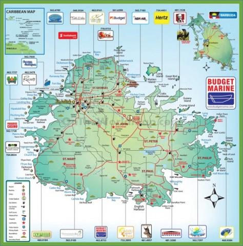 map of antigua 6 Map of Antigua