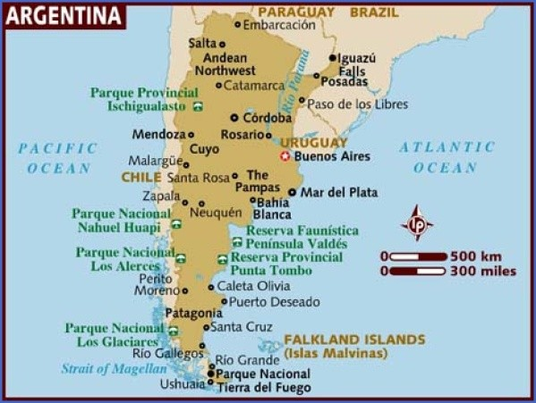 map of argentina 1 Map of Argentina