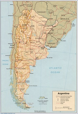 map of argentina 5 Map of Argentina