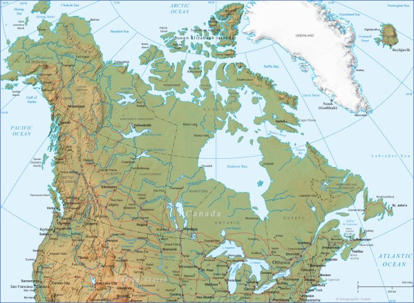map of canada 14 Map of Canada