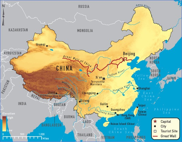 map of china 11 Map of China