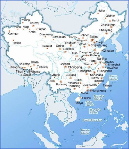 map of china 7 Map of China