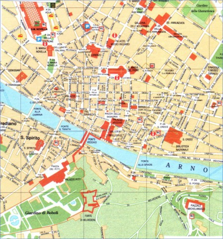 map of florence italy museums in maps city 0 Map of Florence