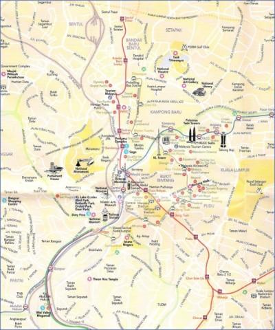 map of kuala lumpur 1 Map of Kuala Lumpur