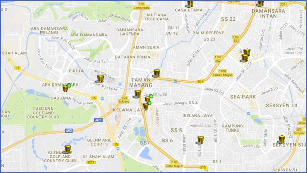 map of kuala lumpur 2 Map of Kuala Lumpur