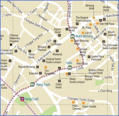map of kuala lumpur 3 Map of Kuala Lumpur