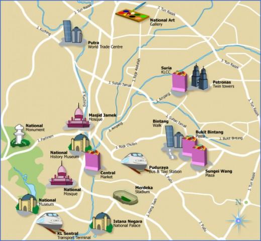 map of kuala lumpur 4 Map of Kuala Lumpur