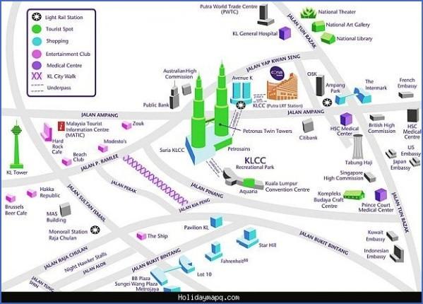 map of kuala lumpur 6 Map of Kuala Lumpur