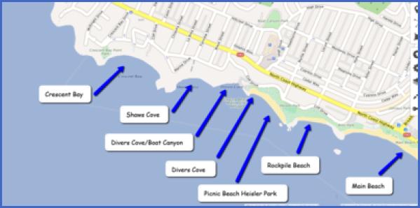 map of laguna beach 10 Map of LAGUNA BEACH