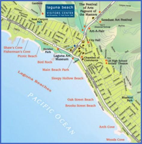 map of laguna beach 13 Map of LAGUNA BEACH