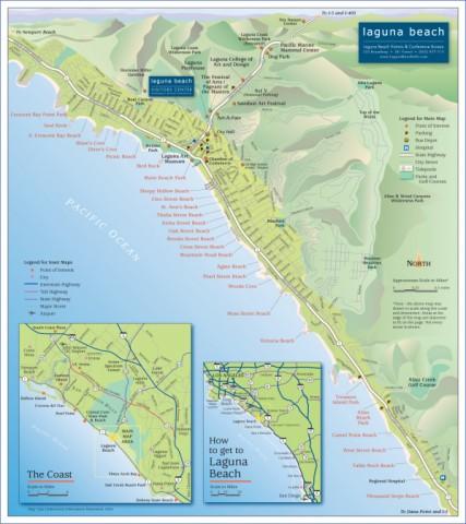 map of laguna beach 14 Map of LAGUNA BEACH