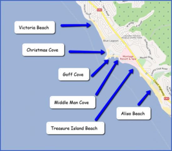 map of laguna beach 4 Map of LAGUNA BEACH