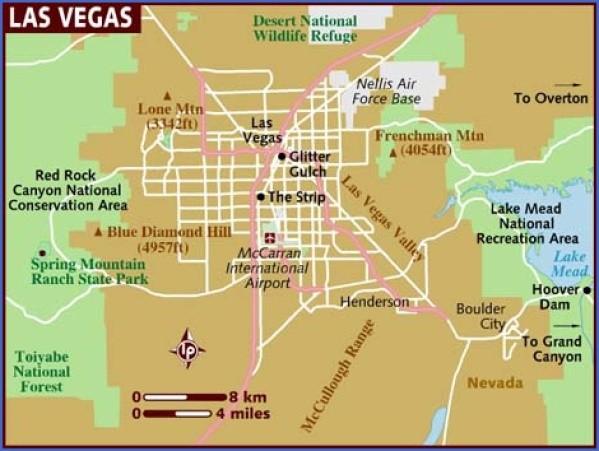 map of las vegas 11 Map of LAS VEGAS