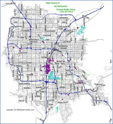 map of las vegas 12 Map of LAS VEGAS