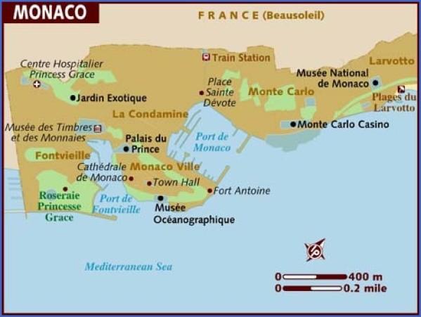 map of monaco 1 Map of Monaco