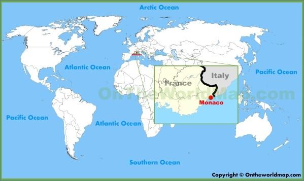 map of monaco 2 Map of Monaco