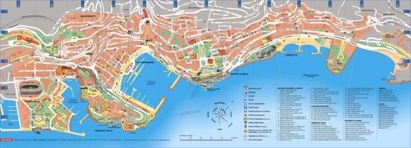 map of monaco 6 Map of Monaco