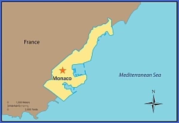 map of monaco 8 Map of Monaco