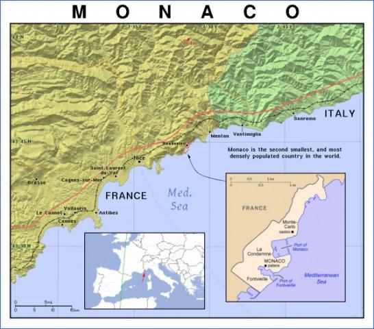 map of monaco 9 Map of Monaco