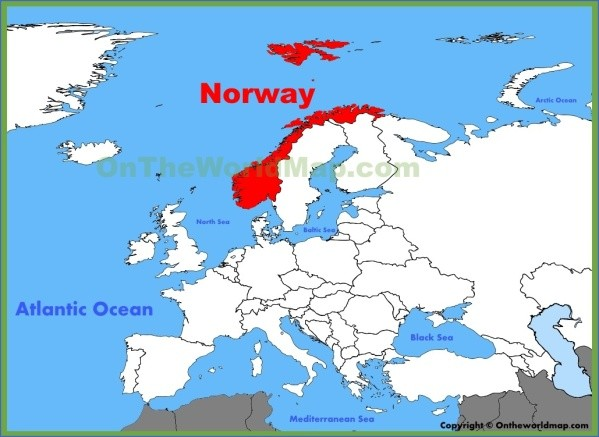 map of norway 5 Map of Norway