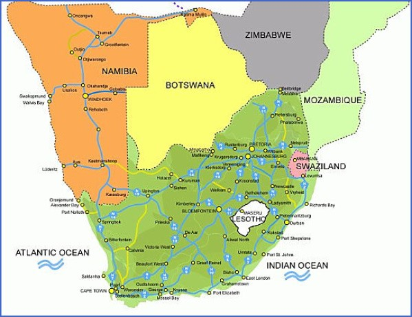 map of south africa highways mapofsouth africa Map of South Africa