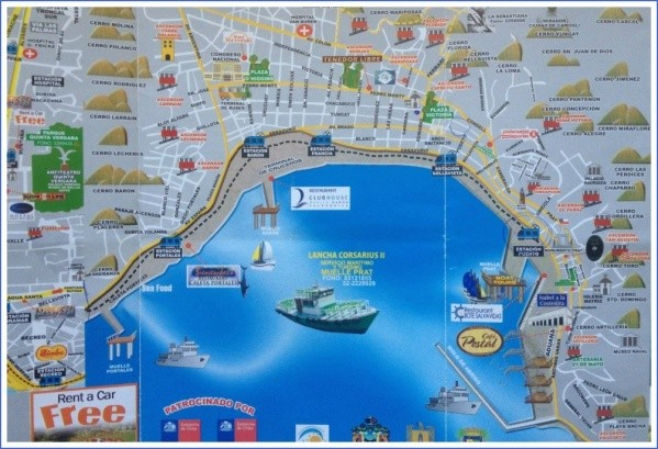 map of the ascensors in valparaiso collage Valparaíso Map