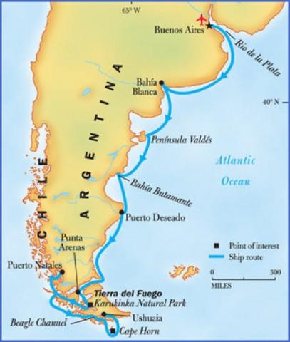 map Map of Patagonia