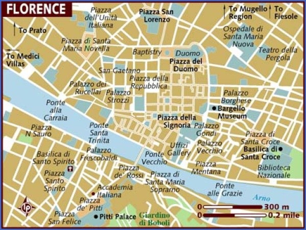 map of florence Map of Florence