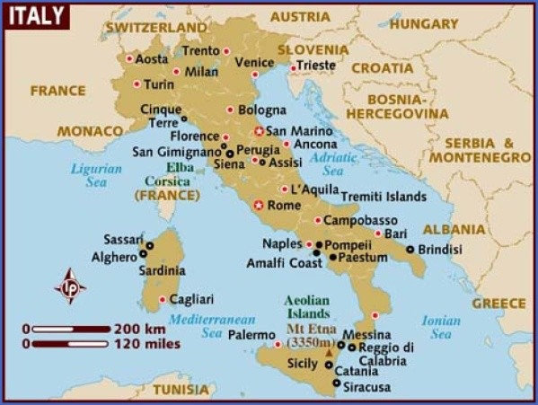 map of italy Map of Italy